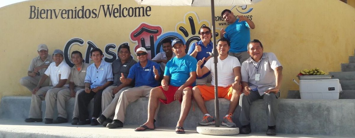 Hilton's Blue Energy Group Visits Casa Hogar